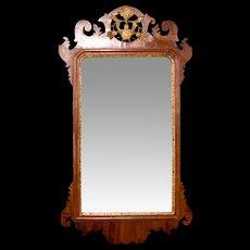 George II Period Mahogany Mirror, 18th Century