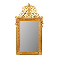 Louis XVI Neoclassical Carved Gilt Wood French Mirror