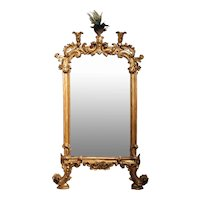 Italian Giltwood Carved Rococo Mirror, 19th Century