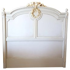 Painted and Gilt French Twin Sized Headboard
