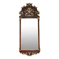 Scandinavian 18th Century Parcel Gilt Mirror