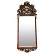 Scandinavian 18th Century Parcel Gilt Mirror