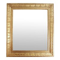 French Rectangular Gilt Charles X Style Mirror