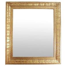 French Rectangular Gilt Charles X Style Mirror
