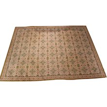 Fine Vintage English Neoclassical Style Needlework Carpet