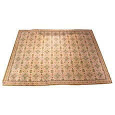 Fine Vintage English Neoclassical Style Needlework Carpet