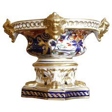 Derby Potpourri Urn With Gilt Faces, Early 19th Century
