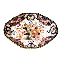 English Derby Imari Porcelain Vegetable Dish, ca. 1830