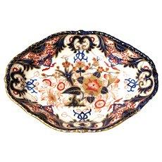 English Derby Imari Porcelain Vegetable Dish, ca. 1830