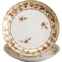 Pair of Fines Fluted English Derby Plates, ca. 1810