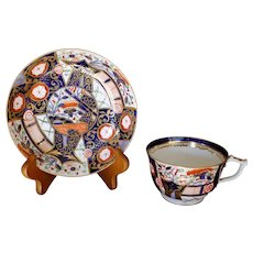 Derby Early 19th Century Gilt Imari Porcelain Cup and Saucer