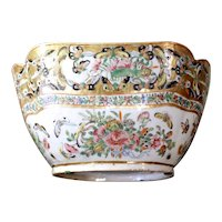 Chinese Export Thousand Butterfly Cut Corner Porcelain Bowl