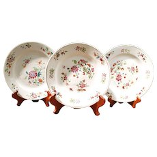 Trio of Chinese Export Famille Rose Plates
