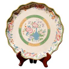 Cauldon Scalloped Rim Polychrome Porcelain Charger