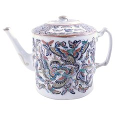 Thousand Butterfly Chinese Export Porcelain Tea Pot With Lid