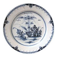 Large Lambeth 18th Century English Delft Charger