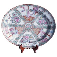 Rose Medallion Oval Porcelain Platter