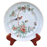 Chinese Export Celadon Bird Plate