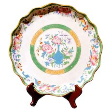 Cauldon Scalloped Rim Polychrome Porcelain Charger