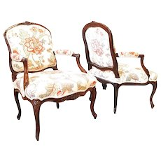 Pair of French Louis XV Period Fauteuils