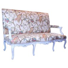 Antique French Régence Style Sofa or Settee
