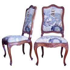 Pair of Finely Carved Italian Rococo Chairs