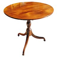 Late George III Period Mahogany Tilt Top Table