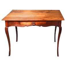 French Provincial Louis XV Style Writing Table with Hoof Feet
