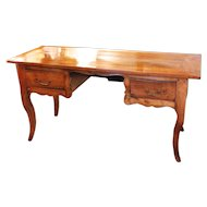 French Provincial Fruitwood Writing Table Desk, 19th Century