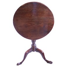 Small Provincial Georgian Mahogany Tilt Top Table, Late 18th Century