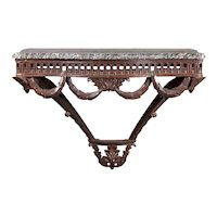 Louis XVI Period Marble Topped Neoclassical Console Table