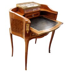 French Louis XV Style Parquetry Lady's Desk