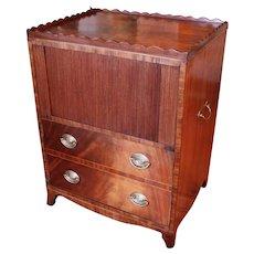 George IV Mahogany Pot Cupboard Cabinet, 19th Century