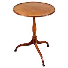 Small American Walnut Dish Top Tilt Top Table