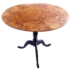 Swedish Alder Root Burl Wood Tilt Top Table, Late 18th/Early 19th Century