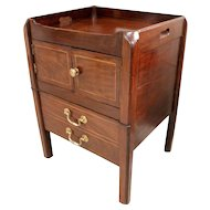 Late George III Pot Cupboard Table Fitted with a Cabinet