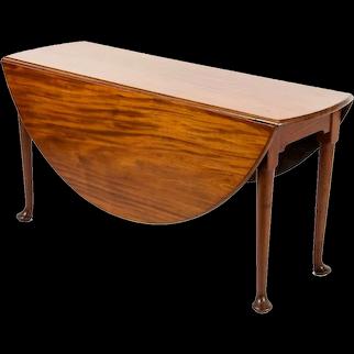 George II Mahogany Round Dining Table, 18th Century