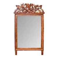 French Provincial Louis XVI Period Giltwood Mirror with Original Mirror Plate