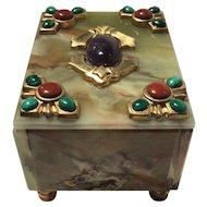Onyx, Malachite, Carnelian, Amethyst and Red Jasper 'Tuti-Frutti' Box