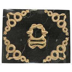 Italian Black Zebra Marble Serpenti Box