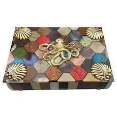 "Marble Specimen ""Noah"" box with Octopus"