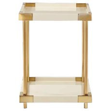 Lacquer & Brass End Table