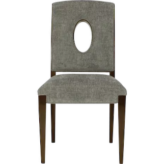Transitional Side Chair with Cutout