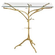 Hand Hammered Accent Table