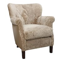Leather & Shearling Armchair