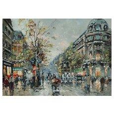 """Antoine Blanchard - """"Les Grands Boulevards, et Theatre du Vaudeville"""""""