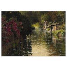 """Louis Aston Knight - """"Les Vieux Lavoirs, Beaumont"""""""