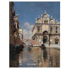 """Rubens Santoro - """"Scuola Grande di San Marco and the Ponte Cavallo on the Rio dei Mendicanti, Venice"""""""