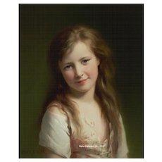 """Fritz Zuber-Buhler's """"Jeune fille"""""""