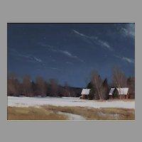 Grant Township Farm by Moonlight